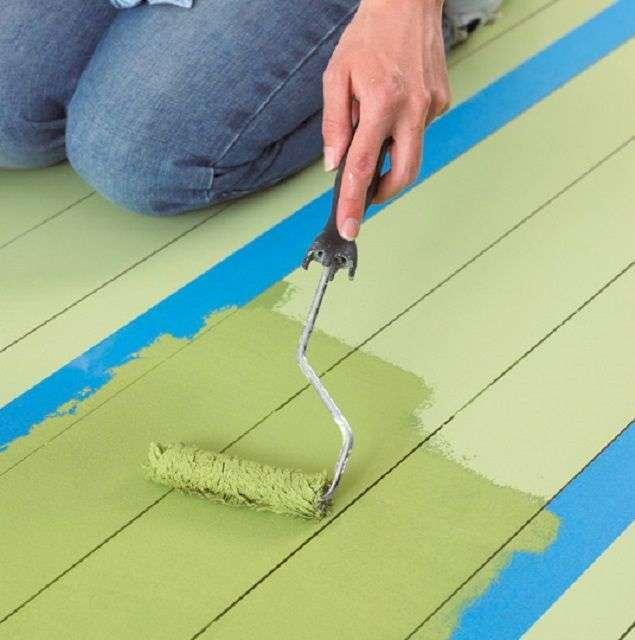 Фарбування деревяної підлоги своїми руками