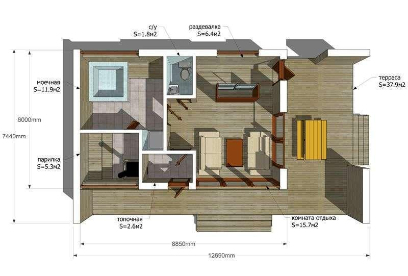 Гостевой домик своими руками схема 9